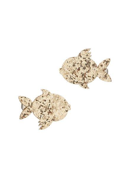 Mimi x Lula Glitter Fish clips | Gold