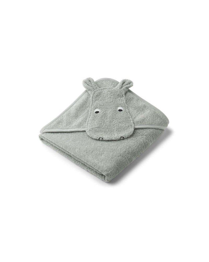 Liewood Albert kleine badcape | Hippo dove blue