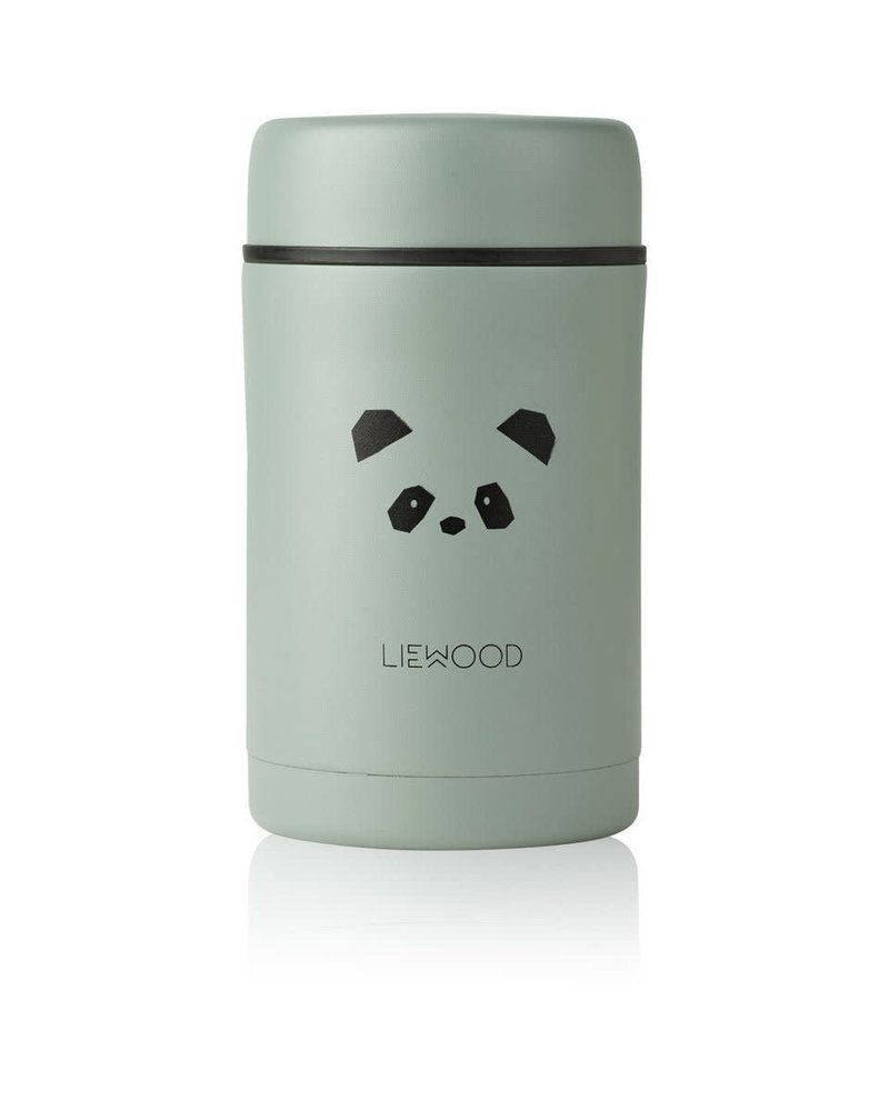 Liewood Bernard food jar 500ml - Panda peppermint