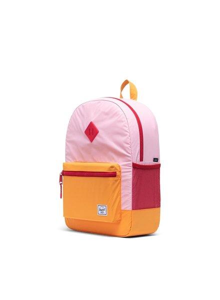 herschel Heritage Youth XL | Candy pink + Blazing orange reflective  + Red Light