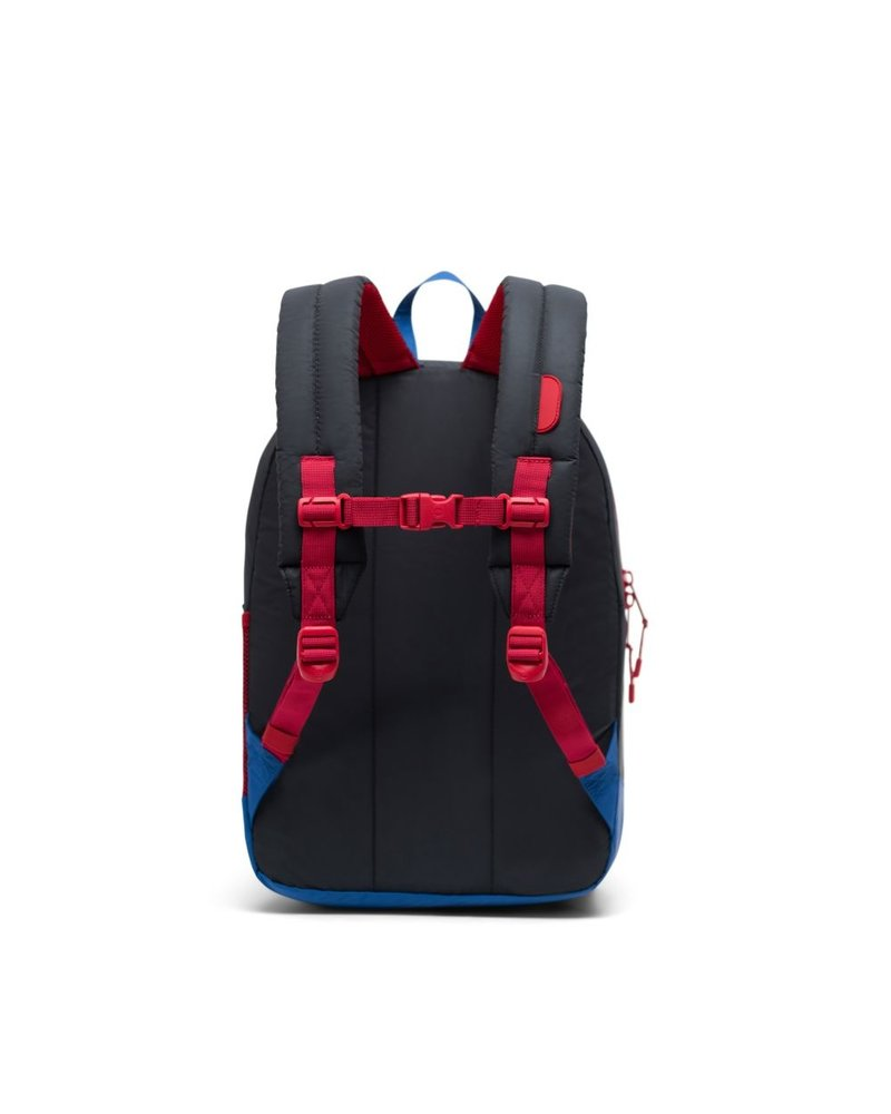 herschel Heritage Youth XL | Black + Lapis blue reflective  + Red Light