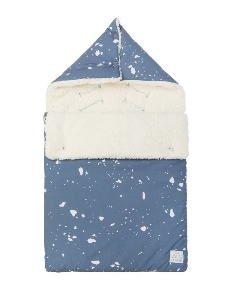 Nanami Voetenzak | Floating ice teddy - denimblauw