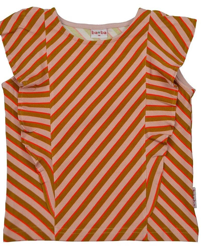 ba*ba Ruffle shirt | Diagonal pink