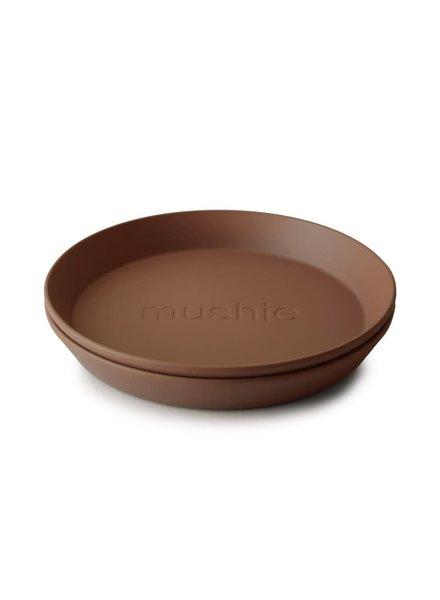 Mushie Set van 2 ronde borden | Caramel