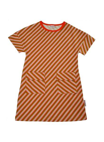 ba*ba T-shirtdress | Diagonal pink