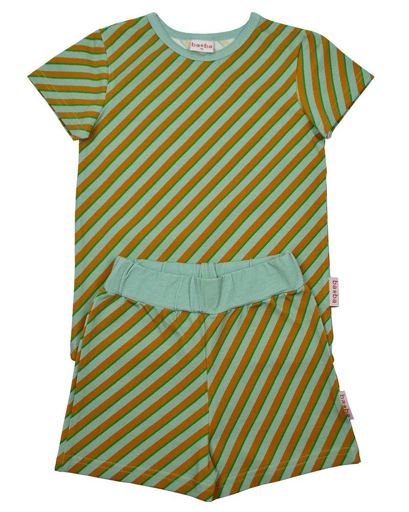 ba*ba Pyjama short | Diagonal blue