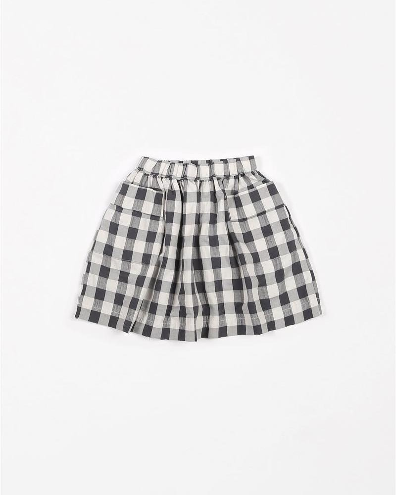 Mundo Melocotón Skirt Pockets | Big Vichy Antra