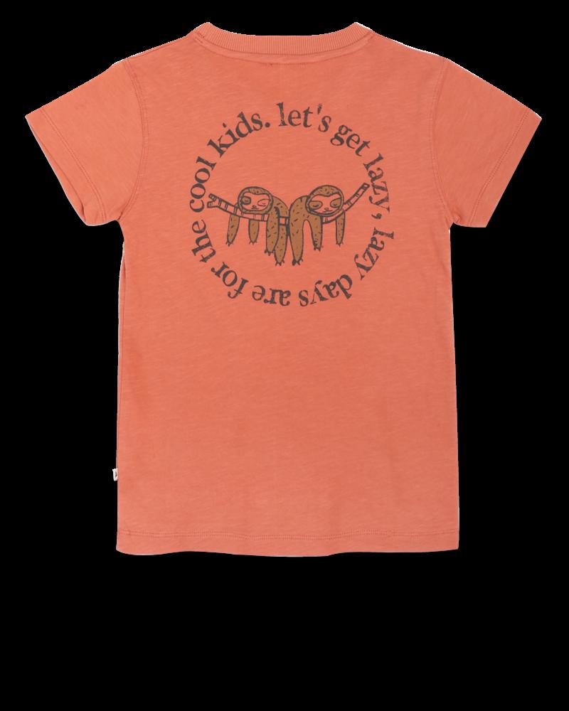 Ammehoela T-shirt Zoe   Copper coin