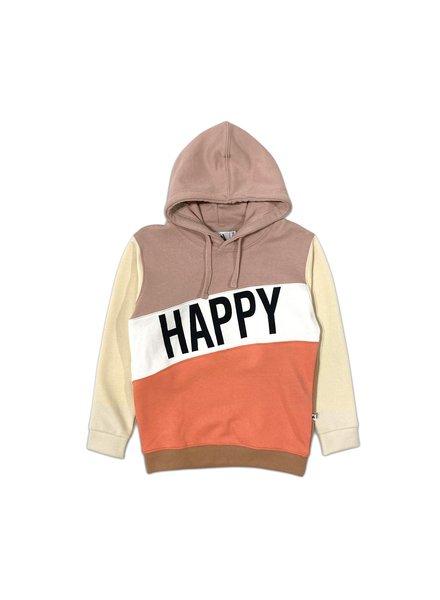 Cos I said so Happy Human Colorblock hoodie | Sepia Rose