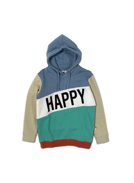 Cos I said so Happy Human Colorblock hoodie | Faded Denim