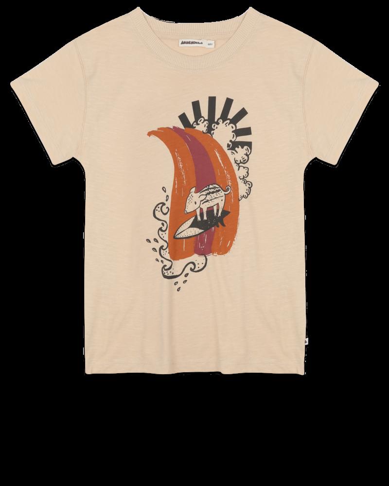 Ammehoela T-shirt Zoe   Surf Pig   Pebble