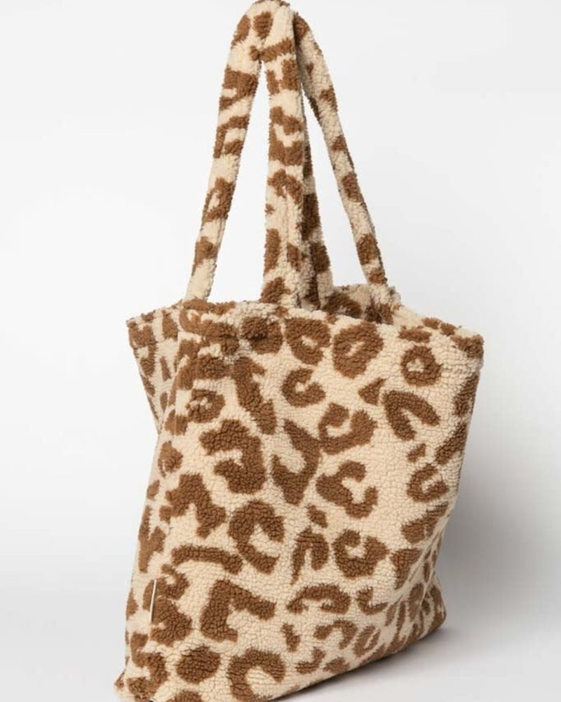 Studio Noos Mom-bag | Teddy Leopard Ecru