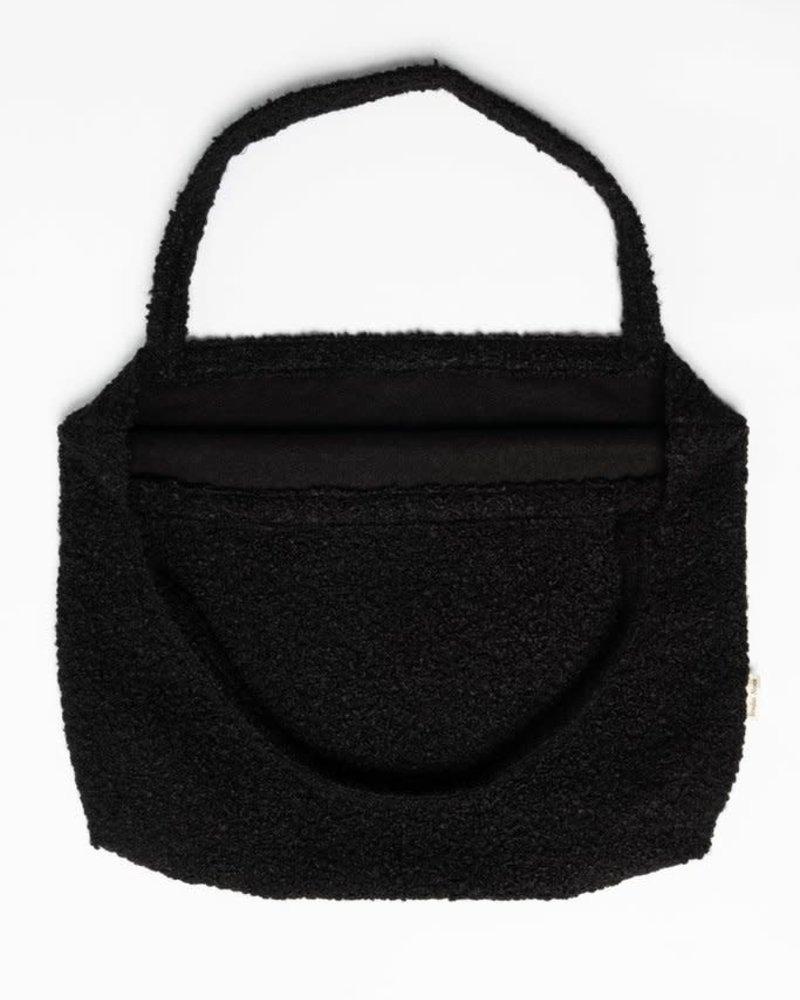 Studio Noos Mom-bag | Black Bouclé