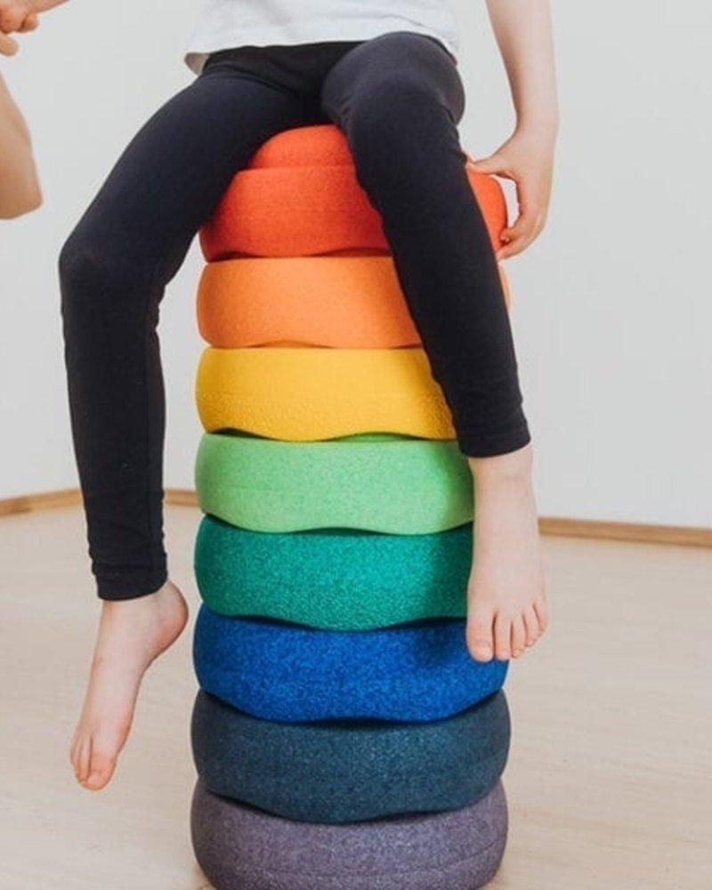 Stapelstein Rainbow Groot | 8 stuks