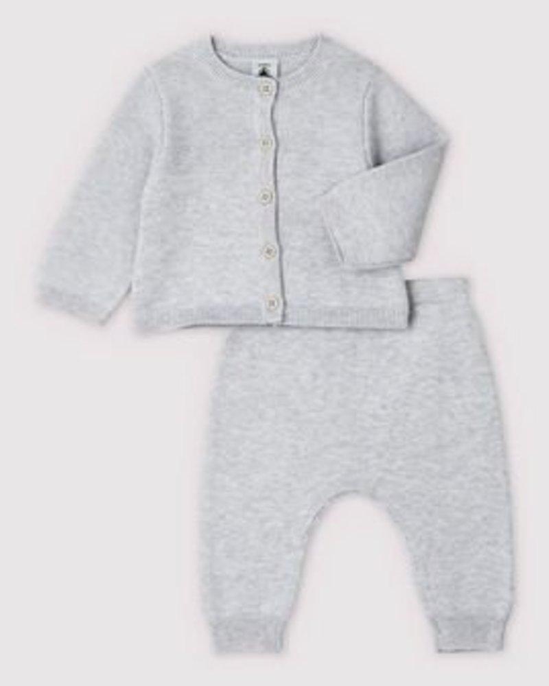 Petit Bateau Knitwear setje | Lichtgrijs