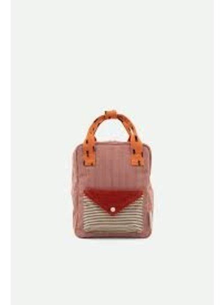 Sticky Lemon Backpack small | Corduroy envelope | Dusty pink + marmalade + carrot orange