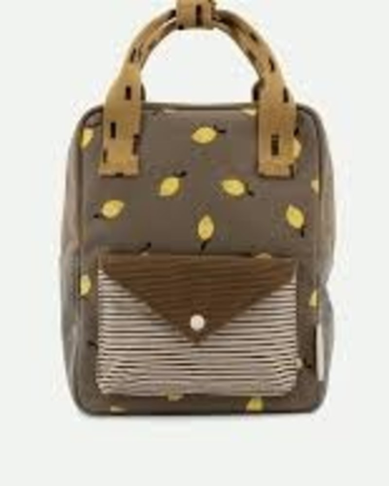 Sticky Lemon Backpack small | Corduroy envelope | Lemon | Dijon + Gingerbread