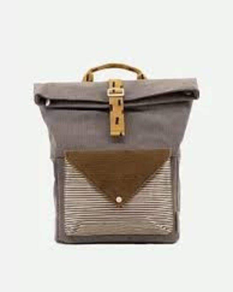 Sticky Lemon Backpack large | Corduroy envelope | Pigeon blue + Woody green + Panache gold