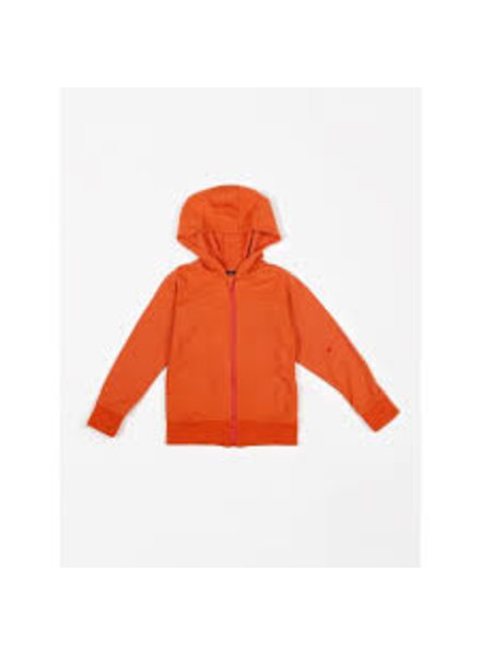 Mundo Melocotón Hoodie french terry | Fiesta Red