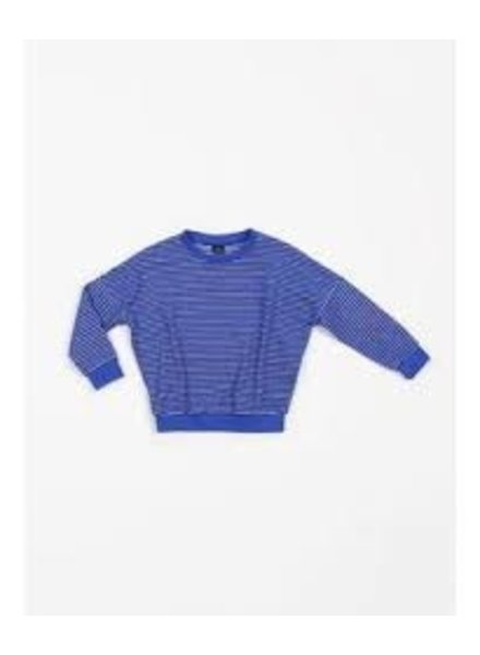 Mundo Melocotón Oversized sweater | Terry Stripes Palace Blue