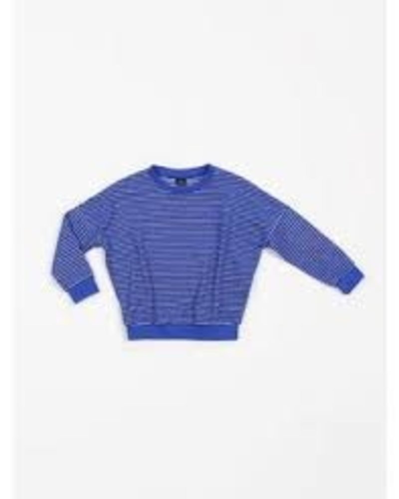 Mundo Melocotón Oversized sweater | Terry Stripes Palace Blue