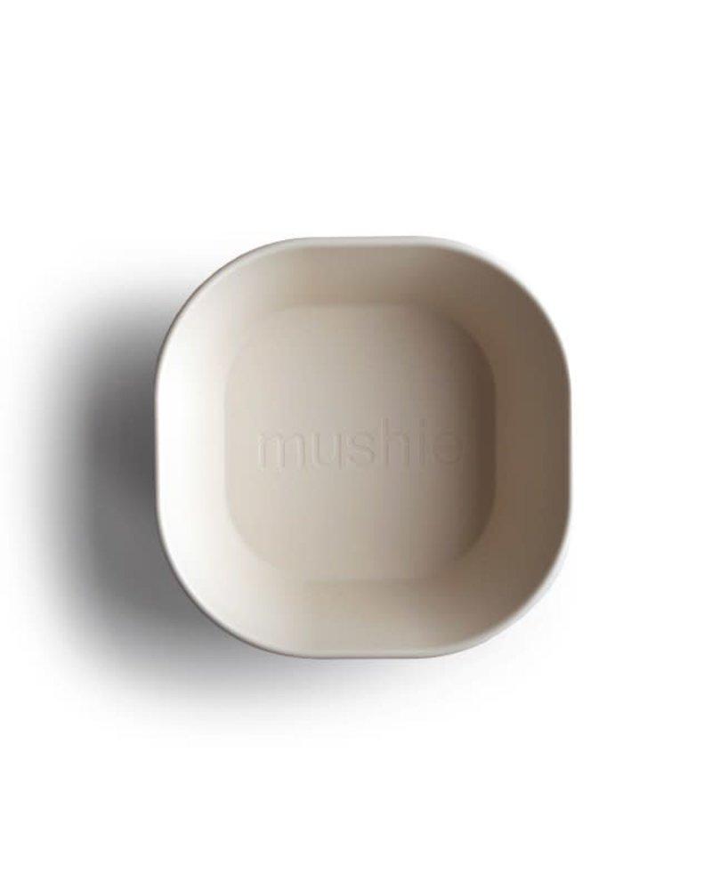 Mushie Set van 2 vierkante bowls | Ivory