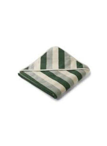 Liewood Louie grote badcape | Garden green - Sandy - Dove blue