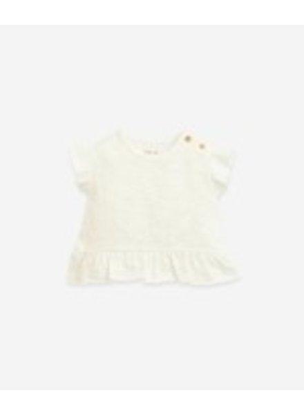 Play Up T-shirt met frill | Flamé | Windflower