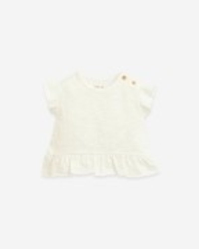 Play Up T-shirt met frill | Flamé | Windflower