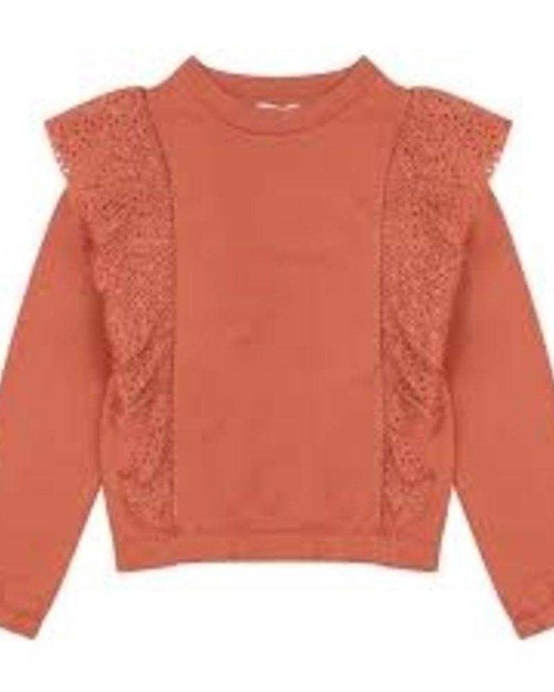 Ammehoela Sweater met ruche Philou | Copper Coin