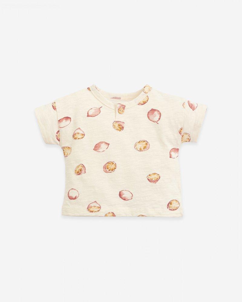 Play Up T-shirt met citroentjes   Flamé   Dandelion
