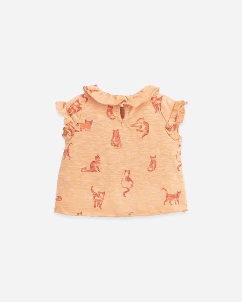 Play Up Mouwloos T-shirt met katten | Flamé | Teresa