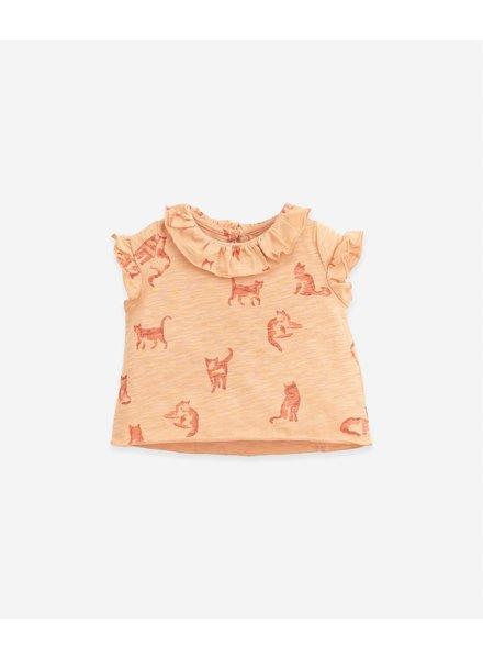Play Up Mouwloos T-shirt met katten   Flamé   Teresa