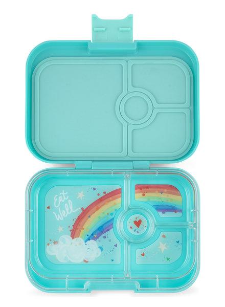 Yumbox Panino 4 vakken | Misty Aqua + Rainbow Tray