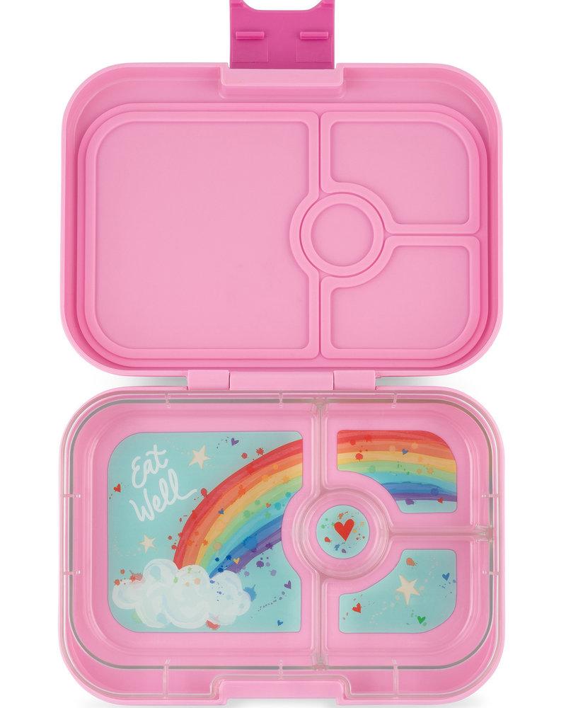 Yumbox Panino 4 vakken | Power roze + Rainbow tray