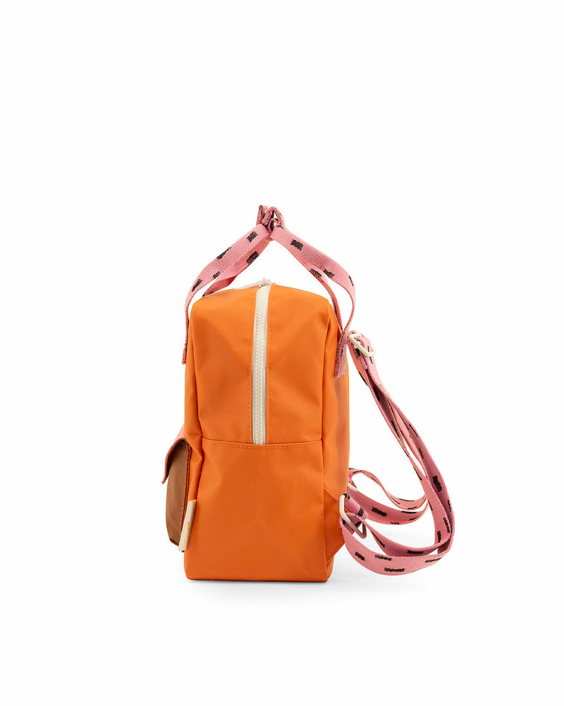 Sticky Lemon Rugzak small | Sprinkles envelope carrot orange + bubbly pink + syrup brown
