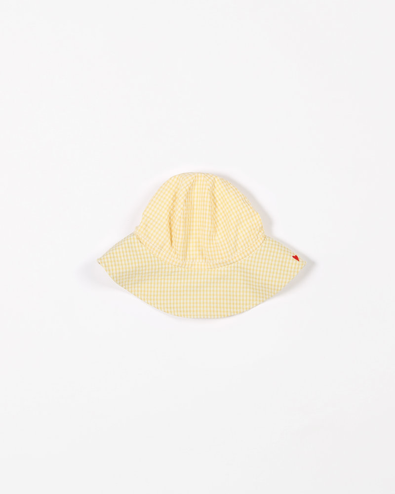 Mundo Melocotón Sun hat | Small Vichy | Yellow | Kid