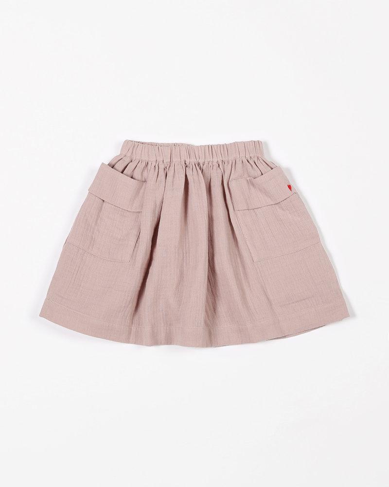 Mundo Melocotón Skirt Pockets | Tetra | Pink Sand