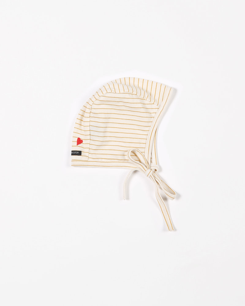 Mundo Melocotón Bonnet Jersey | Yellow stripes