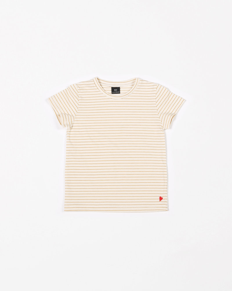 Mundo Melocotón T-shirt jersey | Yellow stripes