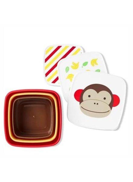 Skip Hop Set van 3 snackdoosjes | Monkey