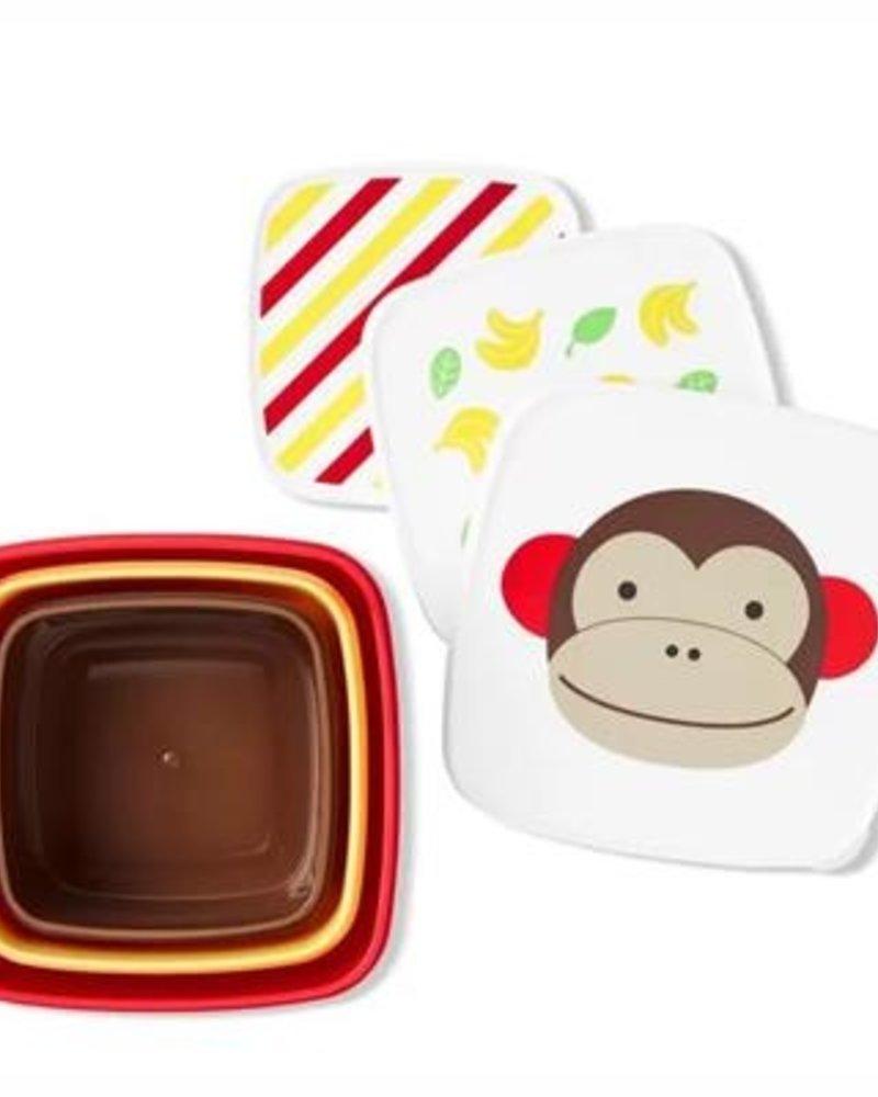 Skip Hop Set van 3 snackdoosjes   Monkey