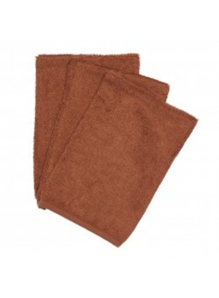 Timboo Set van 3 washandjes | Hazel Brown