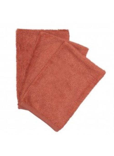 Timboo Set van 3 washandjes | Apricot blush