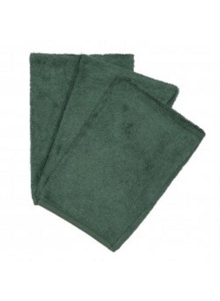 Timboo Set van 3 washandjes | Aspen green