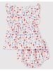 Petit Bateau Muslin kleedje met bloomer | Bloemen