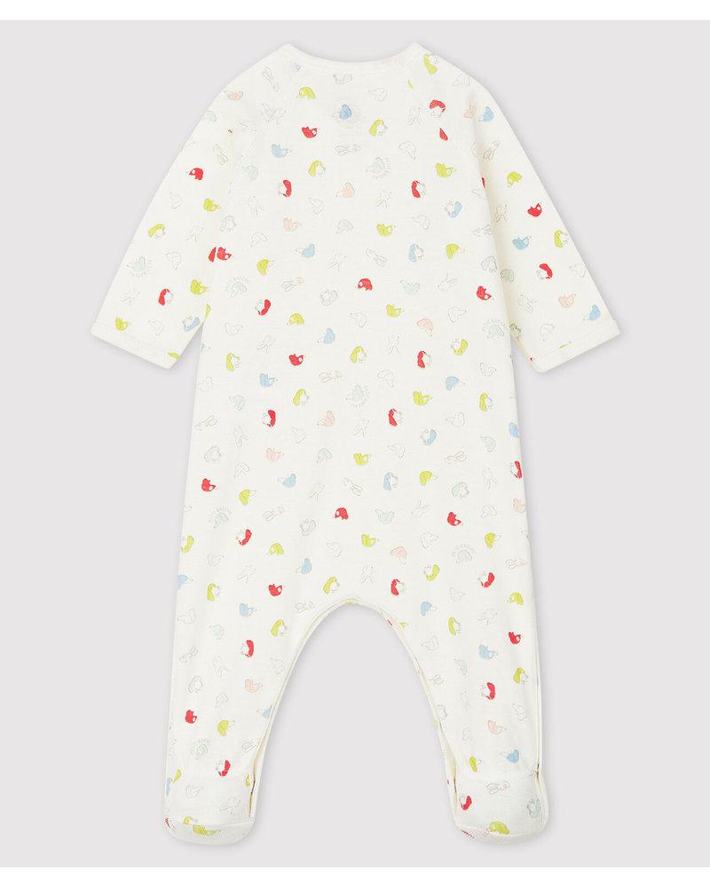 Petit Bateau Pyjama met overslag en hondjes