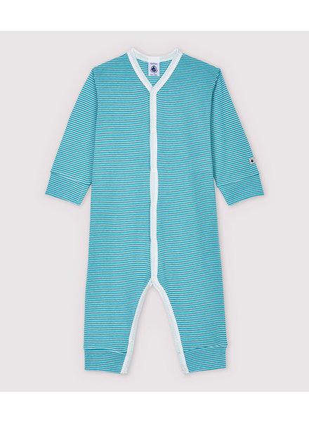 Petit Bateau Pyjama zonder voetjes | Milleraies turquoise