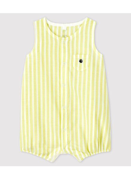 Petit Bateau Zalig fris zomerpakje geel-wit gestreept