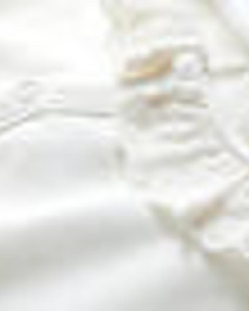 Petit Bateau Body met korte mouwen en kanten kraagje